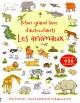 Couverture : Animaux (Les):mon grand livre d'autocollants Cecilia Johansson, Jessica Greenwell, Rebecca Finn