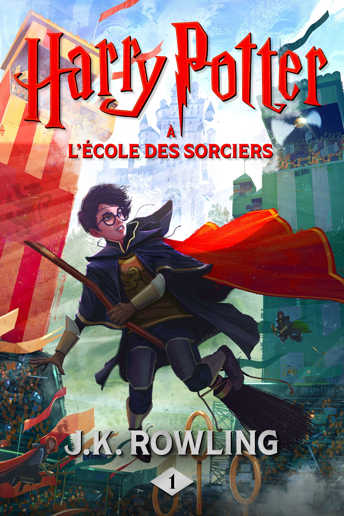 Couverture : Harry Potter T.1 : Harry Potter à l'École des sorciers J.k. Rowling