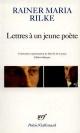 Couverture : Lettres à un jeune poète Rainer Maria Rilke