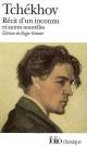 Couverture : Récit d'un Inconnu : et Autres Nouvelles Anton Pavlovitch Tchekhov