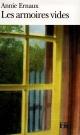 Couverture : Les Armoires vides Annie Ernaux