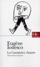 Couverture : La cantatrice chauve Eugène Ionesco