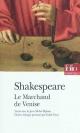 Couverture : Marchand de Venise (Le)  Shakespeare