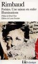 Couverture : Poésies.  Une saison en enfer / Illuminations Arthur Rimbaud