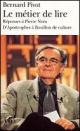 Couverture : Métier de Lire (Le) Bernard Pivot