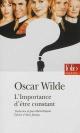 Couverture : Importance d'être constant (L') Oscar Wilde