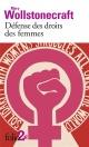 Couverture : Défense des droits des femmes : extraits Mary Wollstonecraft