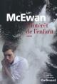 Couverture : L'intérêt de l'enfant Ian Mcewan