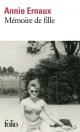 Couverture : Mémoire de fille Annie Ernaux
