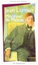 Couverture : Monsieur de Phocas (édition avec dossier) Jean Lorrain
