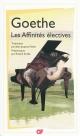 Couverture : Les Affinités électives  Goethe, Roland Krebs