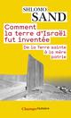 Couverture : Comment la terre d'Israël fut inventée Shlomo Sand
