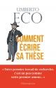 Couverture : Comment écrire sa thèse Umberto Eco