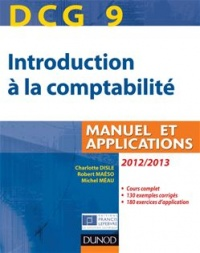 Vignette du livre DCG 9, introduction à la comptabilité: manuel et applications