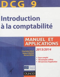 Vignette du livre Introduction à la comptabilité, DCG 9: manuel et applications