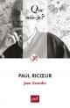 Couverture : Paul Ricoeur Jean Grondin