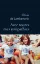 Couverture : Avec toutes mes sympathies Olivia De Lamberterie