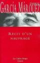 Couverture : Récit d'un Naufragé Gabriel Garcia Marquez
