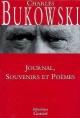 Couverture : Oeuvres complètes :Journal, souvenirs et poèmes Charles Bukowski