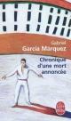 Couverture : Chronique d'une mort annoncée Gabriel Garcia Marquez