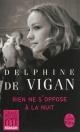 Couverture : Rien ne s'oppose à la nuit Delphine De Vigan