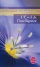 Couverture : Éveil de l'intelligence (L') Jiddu Krishnamurti