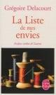 Couverture : Liste de mes envies (La) Grégoire Delacourt