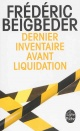 Couverture : Dernier inventaire avant liquidation Frédéric Beigbeder