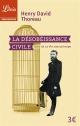 Couverture : La désobéissance civile Henry David Thoreau
