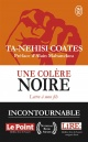 Couverture : Une colère noire : lettre à mon fils Alain Mabanckou, Ta-nehisi Coates