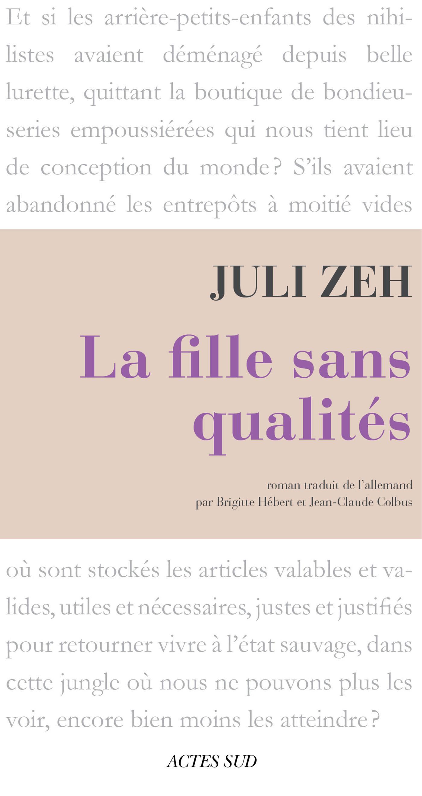 Couverture : La Fille sans qualités Juli Zeh