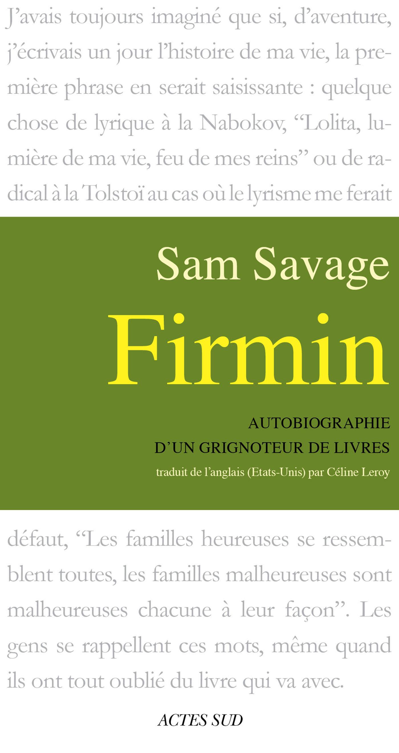 Firmin : Autobiographie d'un Grignoteur...