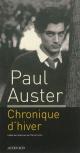 Couverture : Chronique d'hiver Paul Auster