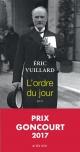 Couverture : L'ordre du jour Eric Vuillard