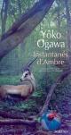 Couverture : Instantanés d'ambre Yoko Ogawa