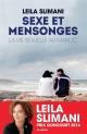 Couverture : Sexe et mensonges : la vie sexuelle au Maroc Leïla Slimani