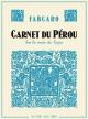 Couverture : Carnet du Pérou sur la route de Guzco  Fabcaro