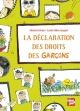 Couverture : La déclaration des droits des garçons Elisabeth Brami, Estelle Billon-spagnol