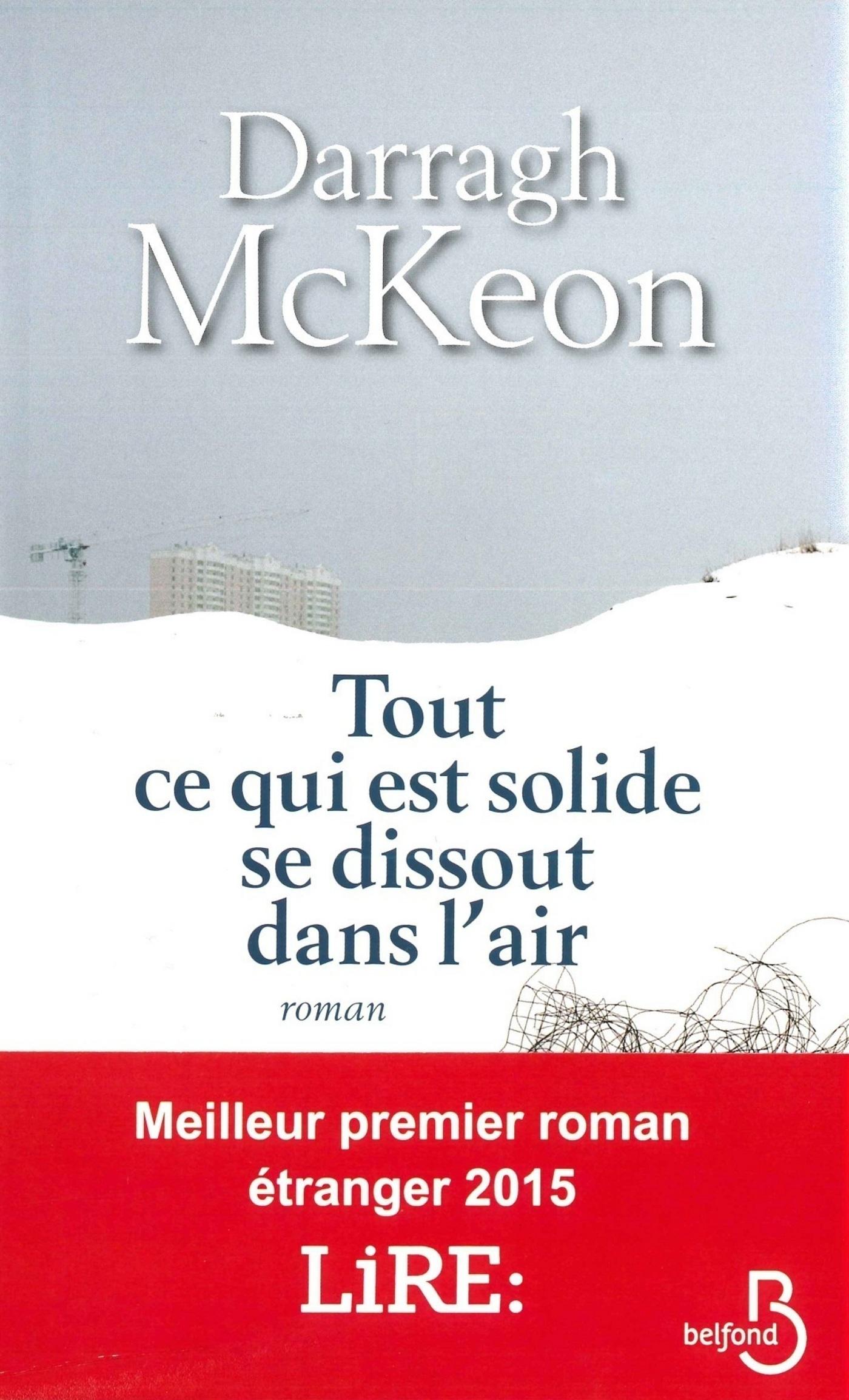 Couverture : Tout ce qui est solide se dissout dans l'air Darragh Mckeon