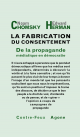 Couverture : Fabrication du consentement (La) Noam Chomsky, Edward Herman
