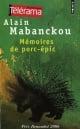 Couverture : Mémoires de porc-épic Alain Mabanckou