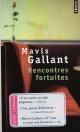 Couverture : Rencontres fortuites Mavis Gallant