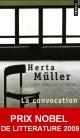 Couverture : Convocation (La) Herta Müller