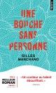 Couverture : Une bouche sans personne Gilles Marchand