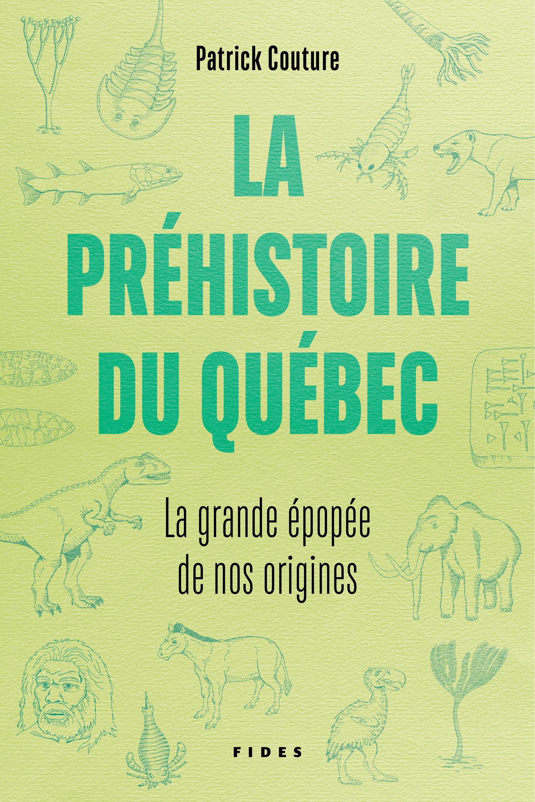 Couverture : La préhistoire au Québec : la grande épopée de nos origines Patrick Couture