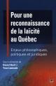 Couverture : Pour une reconnaissance de la laïcité au Québec
