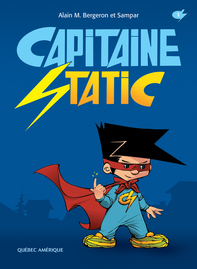 Couverture : Capitaine Static T.1  Bergeron & Sampar