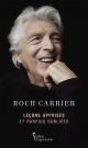 Couverture : Leçons apprises et parfois oubliées Roch Carrier