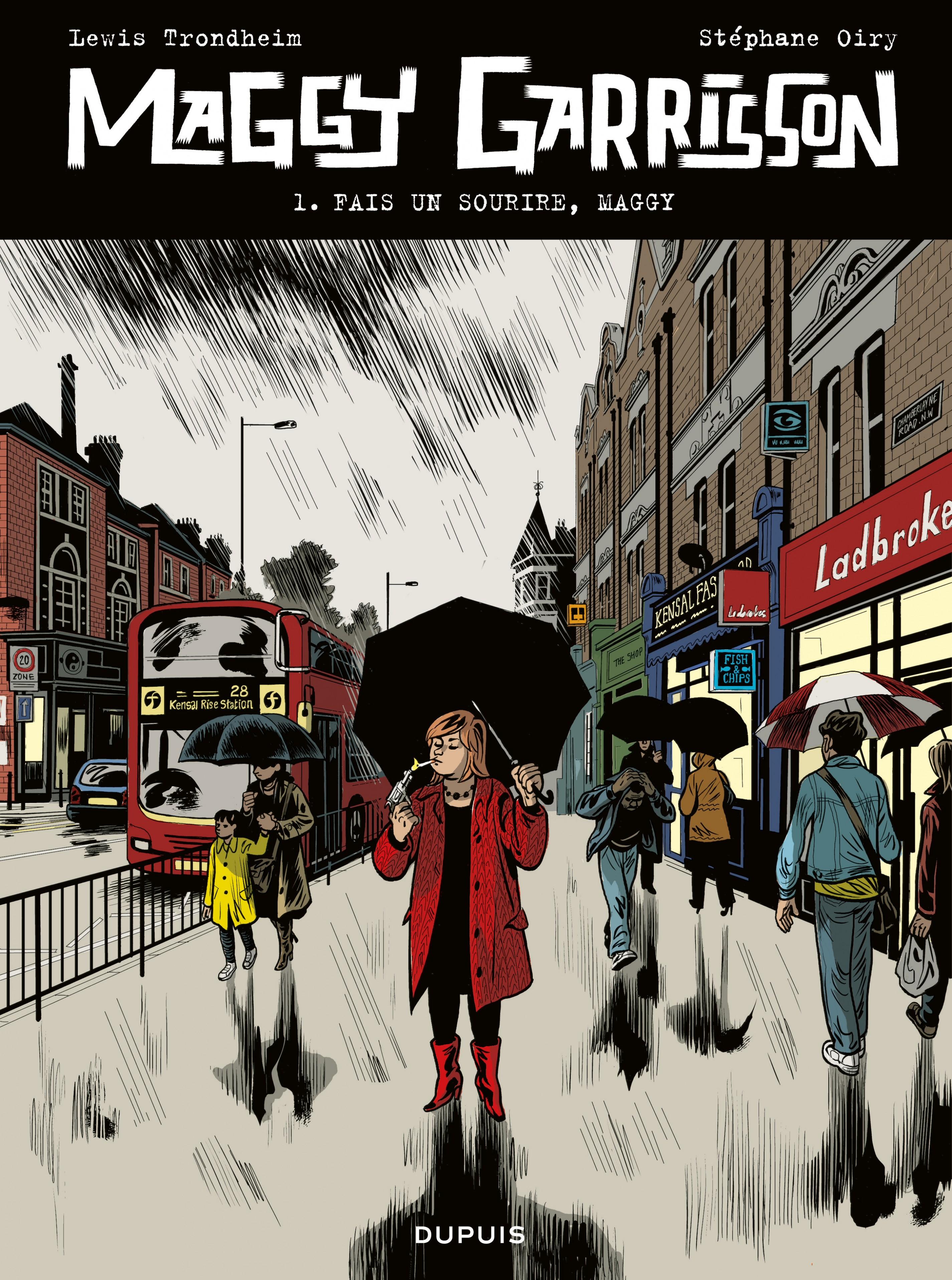 Couverture : Maggy Garrisson T.1 : Fais un sourire, Maggy Lewis Trondheim, Stéphane Oiry