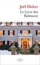 Couverture : Le livre des Baltimore Joël Dicker